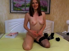 Awesome incomparable girl from Russia in stockings - sex-aid.com