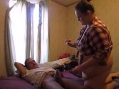 Horny Wife Ride Dick While Watching Porn Loud Orgasm