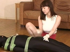 Yuu Shinoda Strapon Anal Dildo increased by handjob