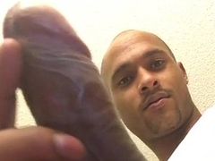 Black Guy&nbsp_Stroking&nbsp_His&nbsp_Long&nbsp_Black Dick On Cam