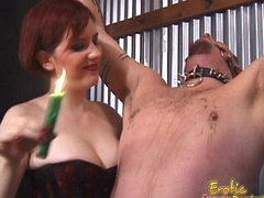Sex-mad stud gets bound and pleasured in numerous kinky ways