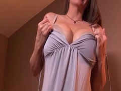 big boobs mummy is horny for riding cock