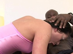 Wife loves big cock in her ass while husband licks pussy