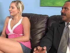 Kylee Reese and her father Tries Big black cock therapy