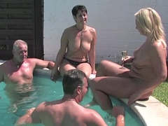 German MILF fucks outdoors