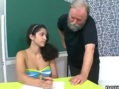 Nice college girl is seduced and nailed by her older lecturer