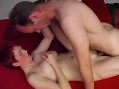 Stunning Redhead Gets Her Soft Tits Totally Covered Of Sperm