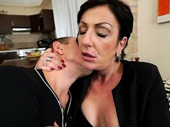 Inked Granny Susan Loose loves youthful cock
