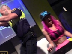 Cop stripper shows dick