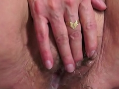 Grandmothers hairypussy creampied