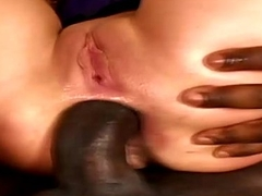 Petite Girl Gets All Holes Drilled Breezies DP