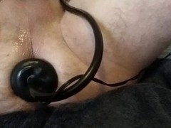 Nicely stretched rectal hole with butt car-card cumming on arse