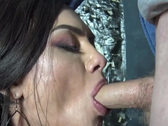 Russian tgirl cocksucking until facial