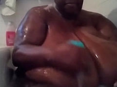 SSBBW black amateur MsBinthere shower Part 2