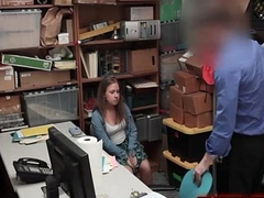 Shoplifting Skank Backroom Hidden-Camera Sex