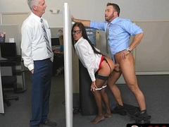 Insanely Hot Bosses Daughter Aubrey Rose Fucks Her Dad'_s Employees