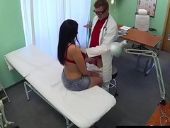Busty patient pussyfucked by her doctor