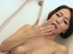 41Ticket - Japanese Mature Masturbates with an increment of Sucks Cock far Shower (Uncensored JAV)